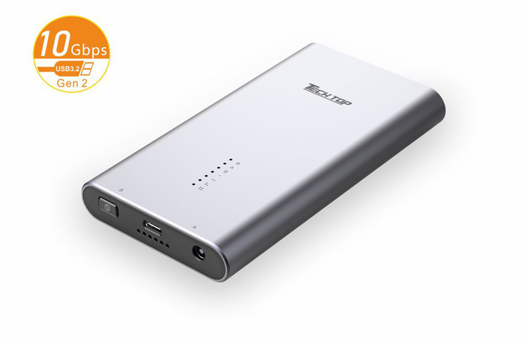 S1206A:  USB3.2 Gen 2 10Gbps Type-C to Dual M.2 PCIE/NVME SSD Enclosure With offline Clone