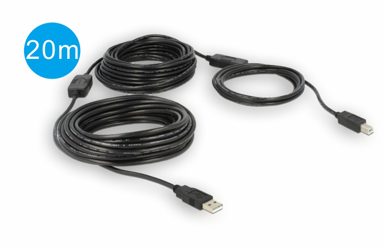 Y-264: 20M, USB 2.0 AM to BM Active Extension Cable